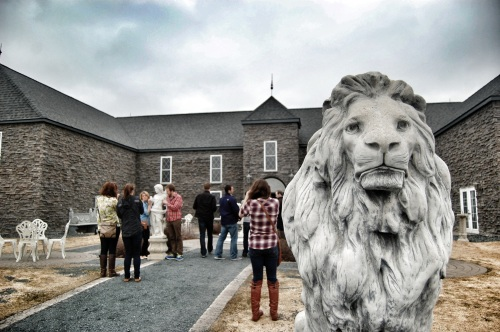 Chateau St. Croix being guarded by a lion.